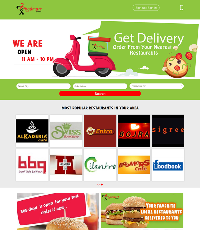 Multi vendor eCommerce website – Food Mart